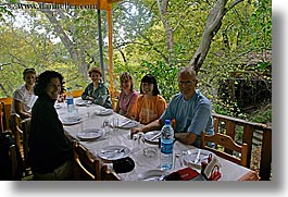 europe, groups, horizontal, outdoors, people, restrant, tables, tourists, turkeys, photograph