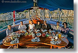 europe, groups, horizontal, people, tables, tourists, turkeys, photograph