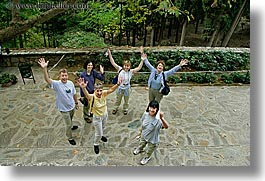 europe, groups, hands, happy, horizontal, laugh, people, tourists, turkeys, waving, womens, photograph