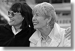 black and white, europe, groups, happy, horizontal, laugh, people, senior citizen, sunglasses, tourists, turkeys, womens, photograph