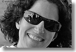 black and white, closeup, europe, happy, horizontal, lori, sunglasses, tourists, turkeys, womens, photograph