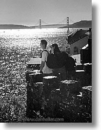 vertical, black and white, fujipix, view, golden gate bridge, black and white, fujipix, view, golden gate bridge, photograph