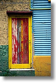 argentina, buenos aires, colored, doors, la boca, latin america, vertical, photograph