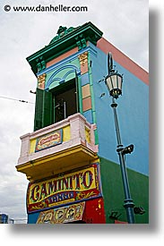 argentina, buenos aires, buildings, caminito, la boca, latin america, painted town, vertical, photograph