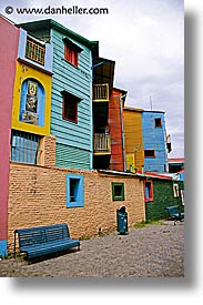 argentina, buenos aires, corrugated, la boca, latin america, metal, painted town, vertical, photograph