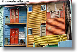 argentina, buenos aires, corrugated, horizontal, la boca, latin america, metal, painted town, photograph