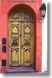 argentina, buenos aires, doors, la boca, latin america, painted town, vertical, photograph