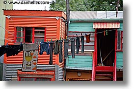 argentina, buenos aires, hangings, horizontal, la boca, latin america, laundry, painted town, photograph