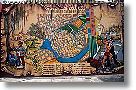 argentina, boca, buenos aires, horizontal, la boca, latin america, map, murals, painted town, photograph