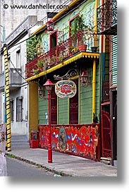 argentina, buenos aires, conventillo, la boca, latin america, museo, painted town, vertical, photograph