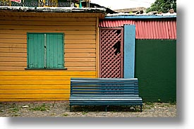 argentina, buenos aires, courtyard, horizontal, la boca, latin america, painted, painted town, photograph