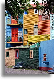 argentina, buenos aires, la boca, latin america, painted, painted town, vertical, walls, photograph