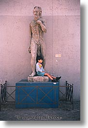 argentina, boys, buenos aires, childrens, la boca, latin america, people, statues, vertical, photograph