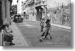 argentina, buenos aires, childrens, football, horizontal, la boca, latin america, people, photograph