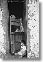 argentina, boys, buenos aires, childrens, doors, la boca, latin america, people, two, vertical, photograph