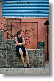 argentina, buenos aires, dancers, la boca, latin america, people, vertical, waiting, photograph