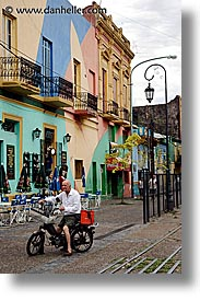 argentina, buenos aires, la boca, latin america, men, moped, people, vertical, photograph