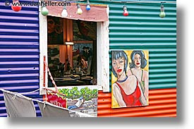 argentina, buenos aires, horizontal, la boca, latin america, painters, people, work, photograph