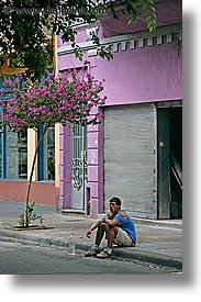 argentina, buenos aires, la boca, latin america, people, sidewalks, sitter, vertical, photograph