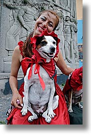 argentina, buenos aires, dogs, la boca, latin america, people, vertical, womens, photograph
