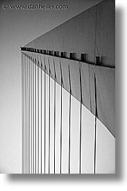 argentina, black and white, bridge, buenos aires, latin america, madero, puerto, puerto madero, vertical, photograph