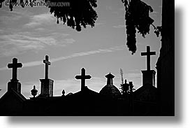 argentina, buenos aires, graves, horizontal, latin america, recoleta cemetery, tops, photograph
