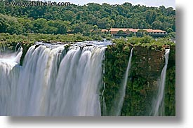 argentina, brazilian, falls, horizontal, iguazu, latin america, side, slow exposure, water, waterfalls, photograph