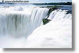 argentina, falls, horizontal, horses, iguazu, latin america, shoes, slow exposure, water, waterfalls, photograph