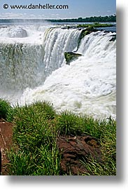 argentina, falls, horses, iguazu, latin america, shoes, vertical, water, waterfalls, photograph