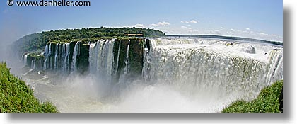 argentina, falls, fisheye lens, horizontal, horses, iguazu, latin america, panoramic, shoes, water, waterfalls, photograph