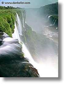 argentina, close, falls, iguazu, latin america, slow exposure, vertical, water, waterfalls, photograph