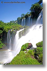 argentina, falls, iguazu, latin america, slow exposure, vertical, water, waterfalls, photograph