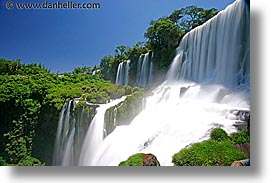 argentina, falls, horizontal, iguazu, latin america, slow exposure, water, waterfalls, photograph