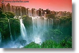 argentina, falls, horizontal, iguazu, latin america, slow exposure, sunsets, water, waterfalls, photograph