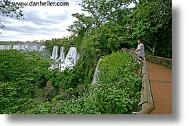 argentina, horizontal, iguazu, latin america, paths, viewing, water, waterfalls, photograph