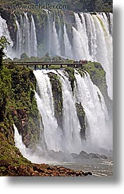 argentina, iguazu, latin america, platforms, vertical, viewing, water, waterfalls, photograph