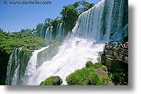 argentina, horizontal, iguazu, latin america, platforms, viewing, water, waterfalls, photograph