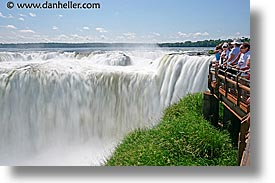 argentina, horizontal, iguazu, latin america, platforms, slow exposure, viewing, water, waterfalls, photograph