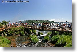 argentina, fisheye lens, horizontal, iguazu, latin america, platforms, viewing, water, waterfalls, photograph
