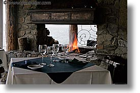 argentina, fire, horizontal, kuar restaurant, latin america, tables, ushuaia, photograph