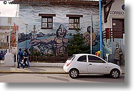 argentina, horizontal, latin america, murals, office, posts, ushuaia, photograph