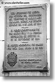 chile, graveyard, latin america, punta arenas, signs, vertical, photograph