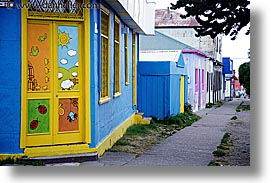 chile, horizontal, houses, kindergarten, latin america, punta arenas, photograph