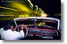 caribbean, cars, cuba, drivers, havana, horizontal, island nation, islands, latin america, nite, south america, taxis, photograph