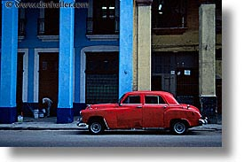 blues, caribbean, cars, cuba, havana, horizontal, island nation, islands, latin america, red, south america, yellow, photograph