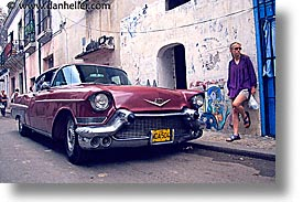 caribbean, cars, cuba, havana, horizontal, island nation, islands, jills, latin america, red, south america, photograph