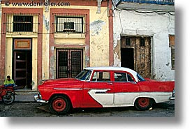 caribbean, cars, cuba, havana, horizontal, island nation, islands, latin america, red, south america, white, photograph