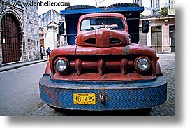 caribbean, cars, cuba, havana, horizontal, island nation, islands, latin america, red, south america, trucks, photograph