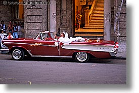 caribbean, cars, cuba, havana, horizontal, island nation, islands, latin america, limo, south america, wedding, photograph