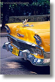 caribbean, cars, chevy, cuba, havana, island nation, islands, latin america, south america, vertical, yellow, photograph